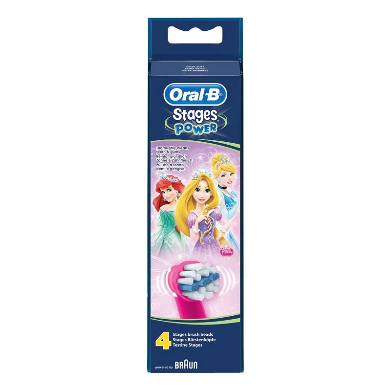 EB10-4 Stages Power gyermek fogkefe pótfej Hercegnő 4db