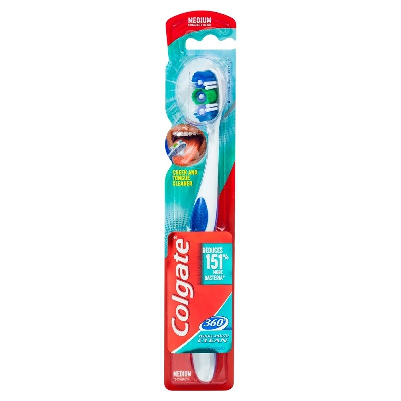 Colgate 360 Whole Mouth Clean fogkefe - medium
