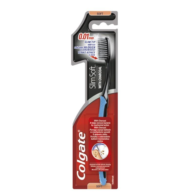 Colgate Slim Soft Charcoal fogkefe aktív szénnel