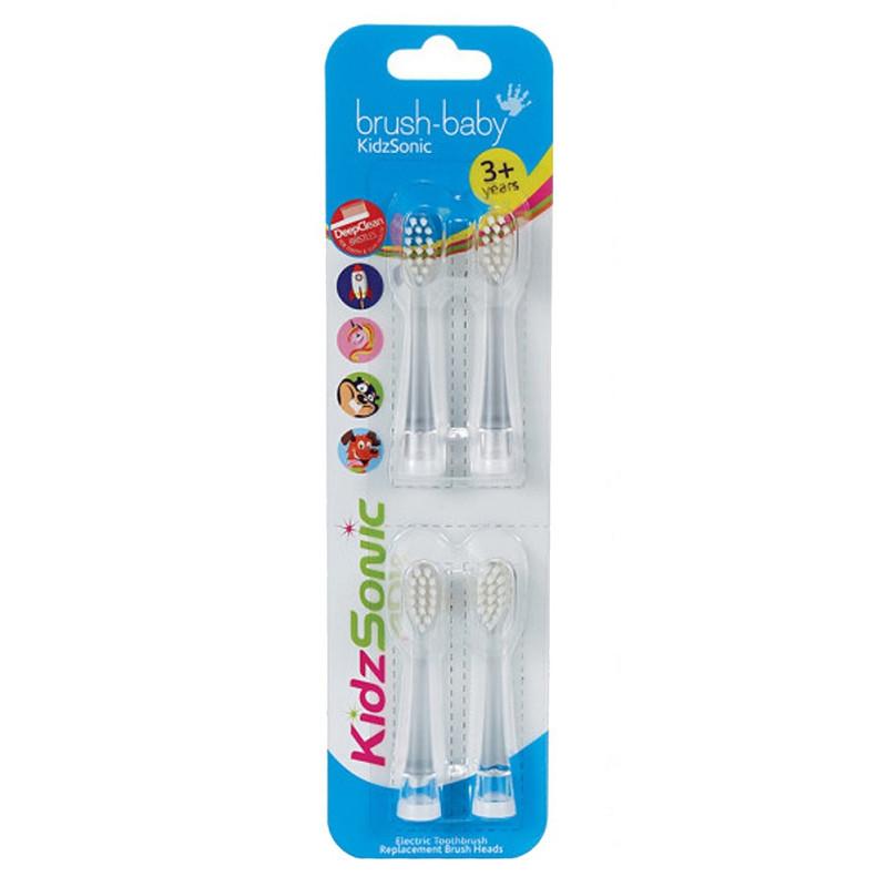 Brush-Baby KidzSonic pótfej 4db - 3-6 évesig