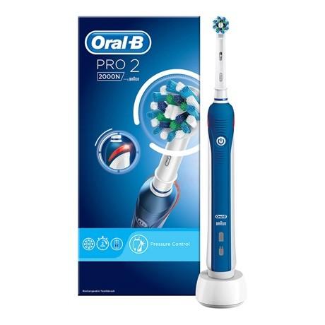 Oral-B PRO 2 2000 Blue CrossAction elektromos fogkefe