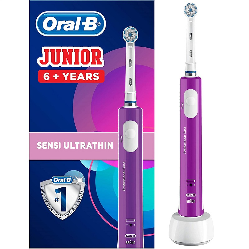 Oral-B PRO 400 Junior 6+ Lila elektromos fogkefe
